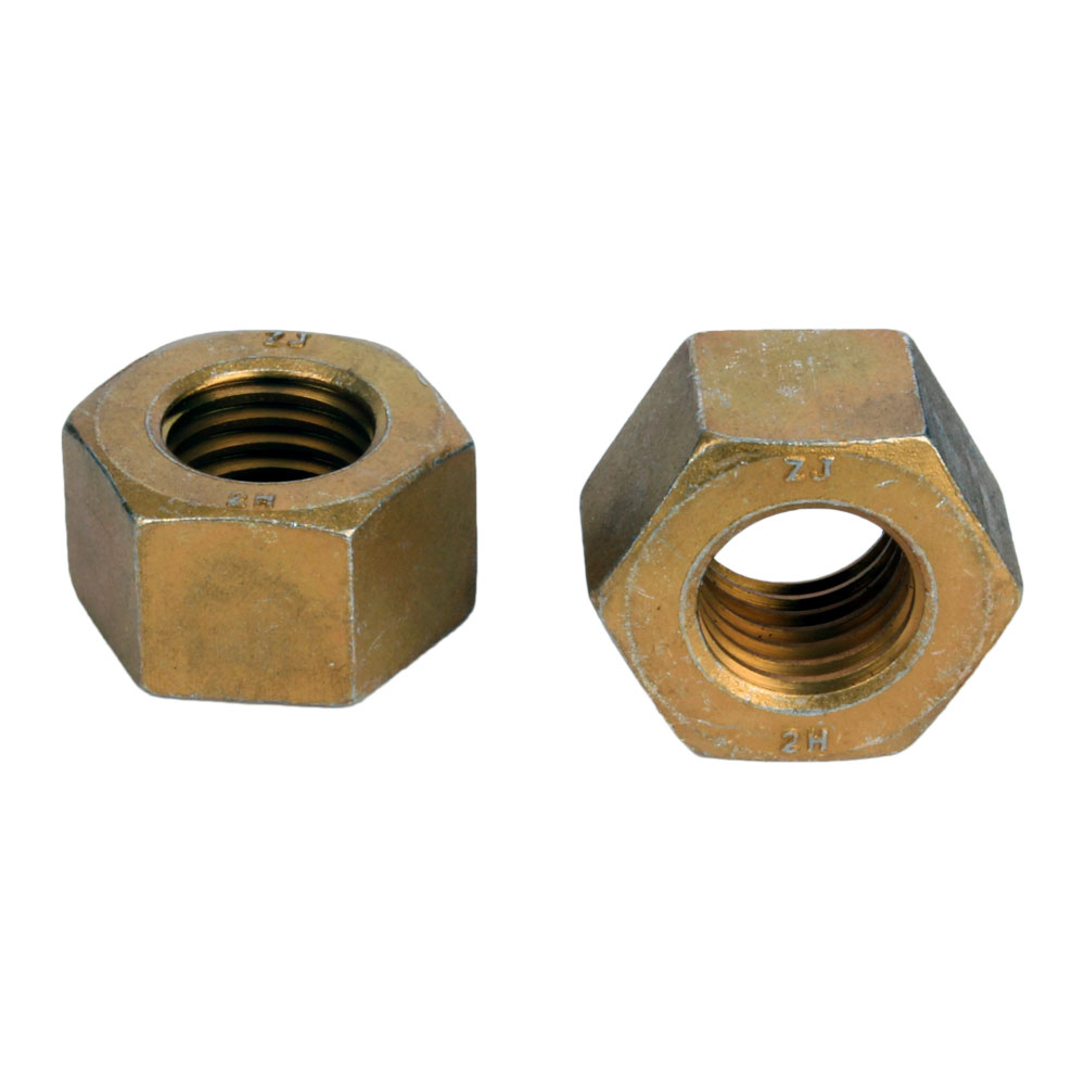 "Copper hex nuts  7//8/"" 9tpi"