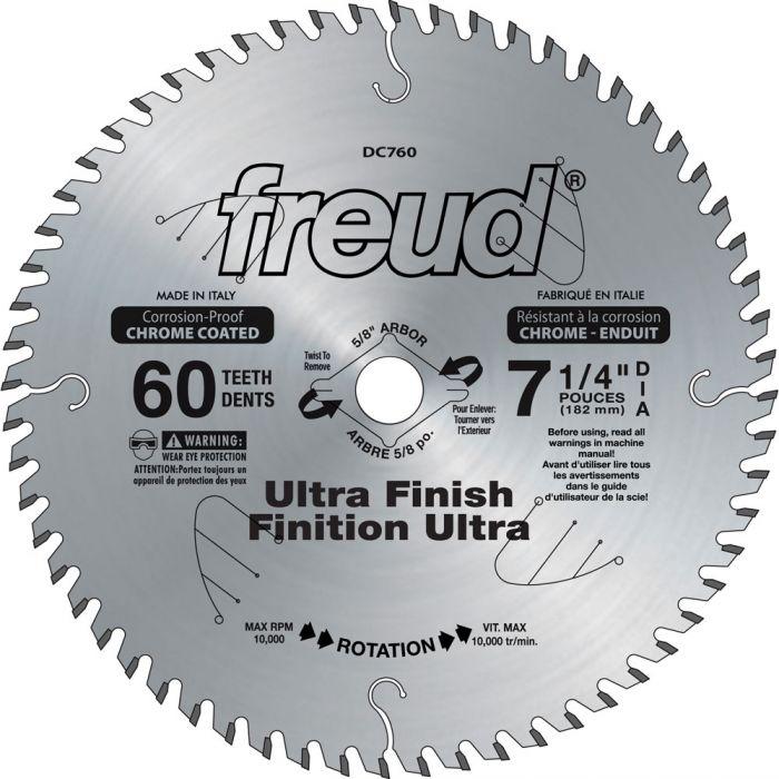 X 60 Tooth Thin Finished Cuts Wood Plywood Circular Saw Blade Diablo 7-1//4 In
